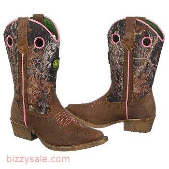 John Deere Camo Camo Boot Kids' Mossy Oak Pull-On Cowboy Toddler ...