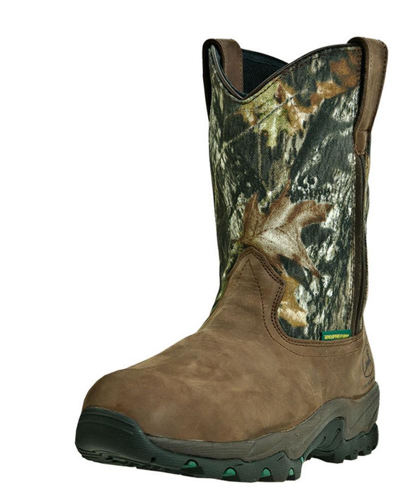 ... Waterproof Non-Metallic Pull-On Composite Toe Boot - Gaucho/Mossy Oak