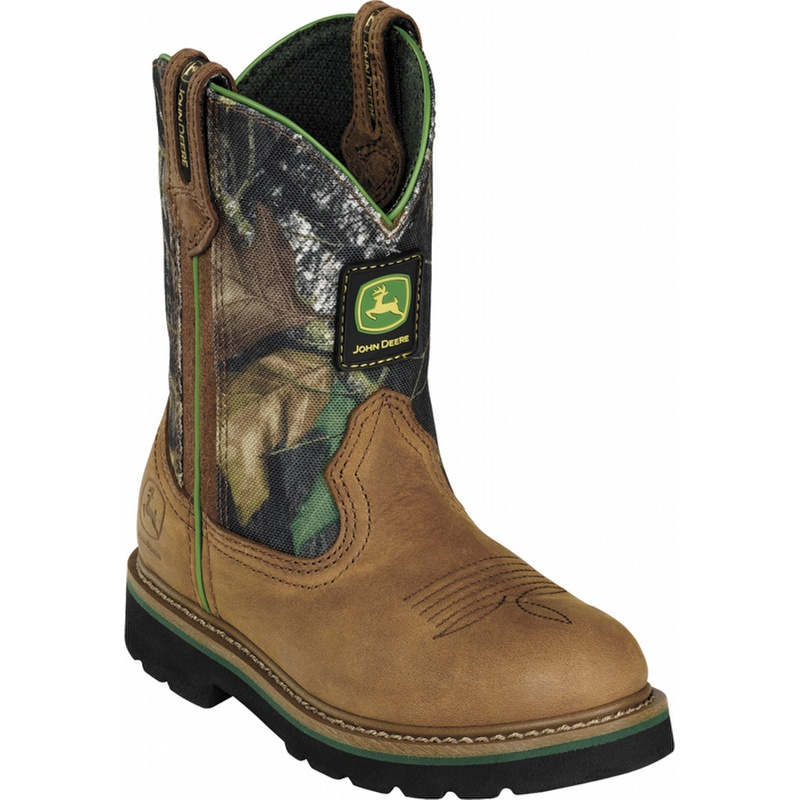 Pics Photos - Kid S John Deere Johnny Popper Leather Wellington Boots