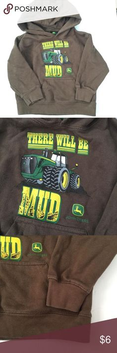 John Deere sweatshirt Brown hooded tractor sweatshirt front pocket ...
