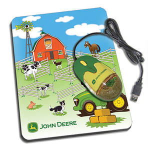 John Deere Children's Optical Mouse and Mouse Pad