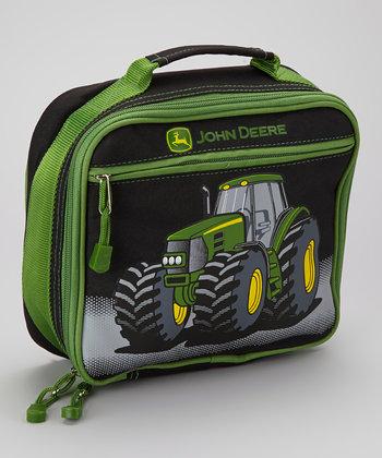 John Deere Black & Green Tractor Lunch Box   zulily