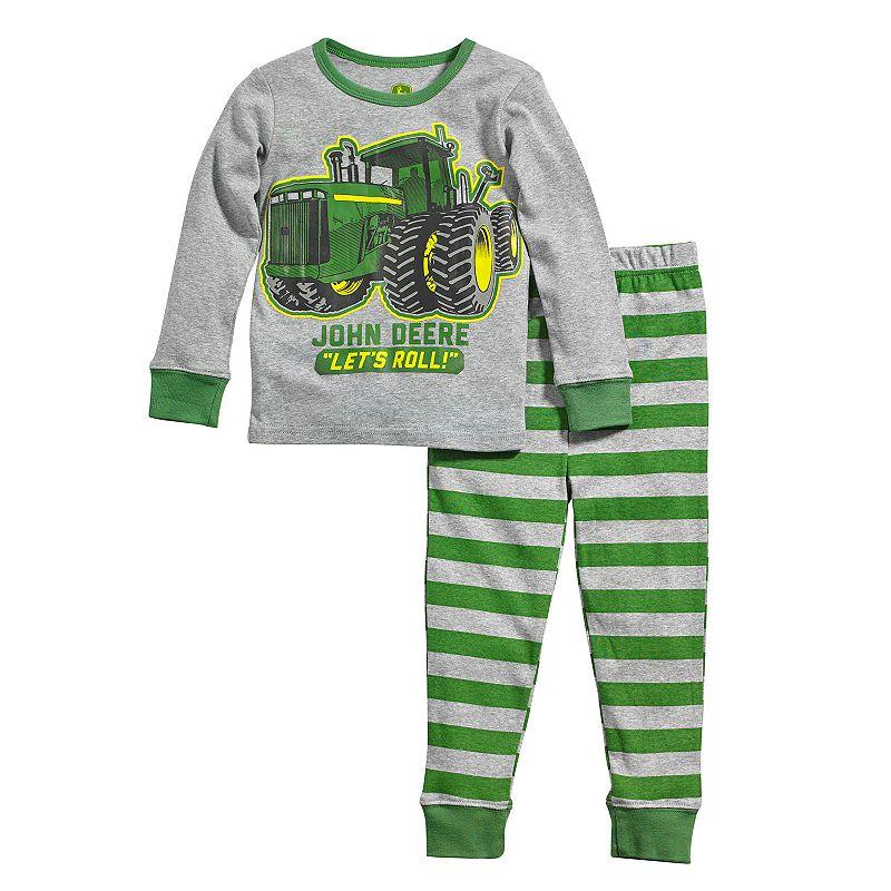 John Deere ''Let's Roll'' Tractor Pajama Set - Toddler Boy