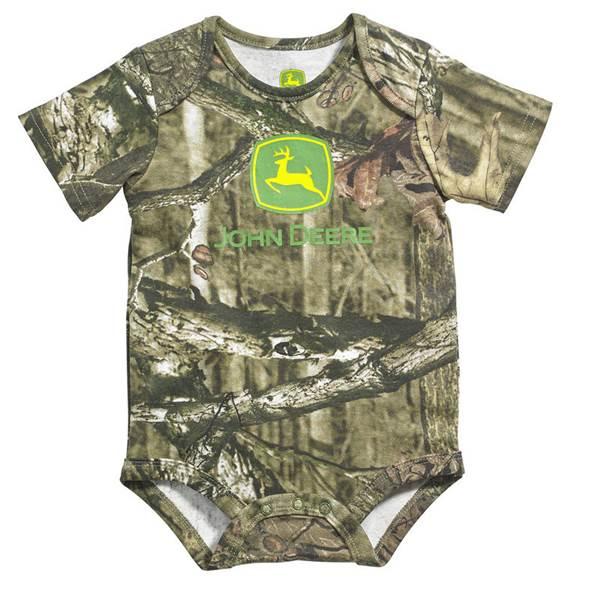 John Deere Baby Boy's Mossy Oak Short Sleeve Bodysuit at ...