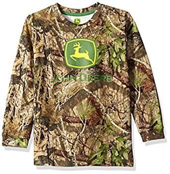 Amazon.com: John Deere Little Boys' Mossy Oak Print Logo ...