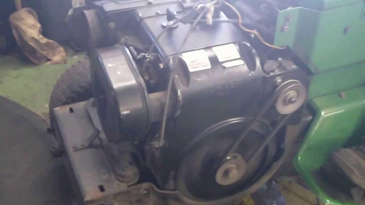john deere 212 kohler k301 engine running great - YouTube