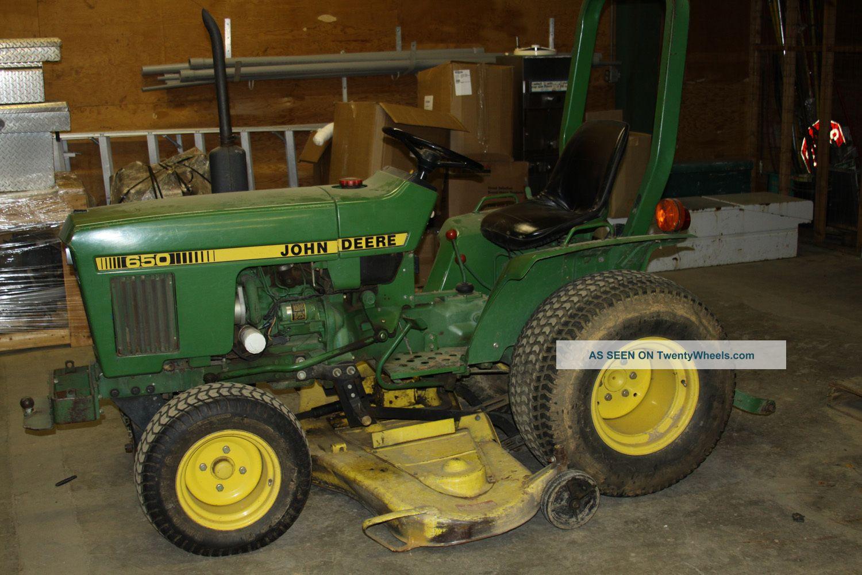 [item 7] John Deere Lawn Tractor 650 2wd, 18 Hp Diesel