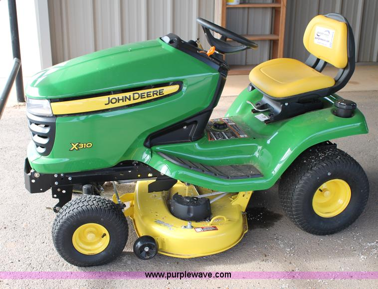 John Deere x310 lawn mower | no-reserve auction on ...