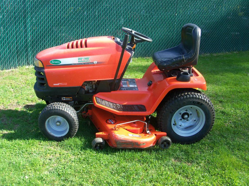 scotts john deere 2048 lawn and garden tractor 20hp 48 ...
