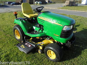 John Deere X495 diesel ride on mower compact tractor 24hp ...