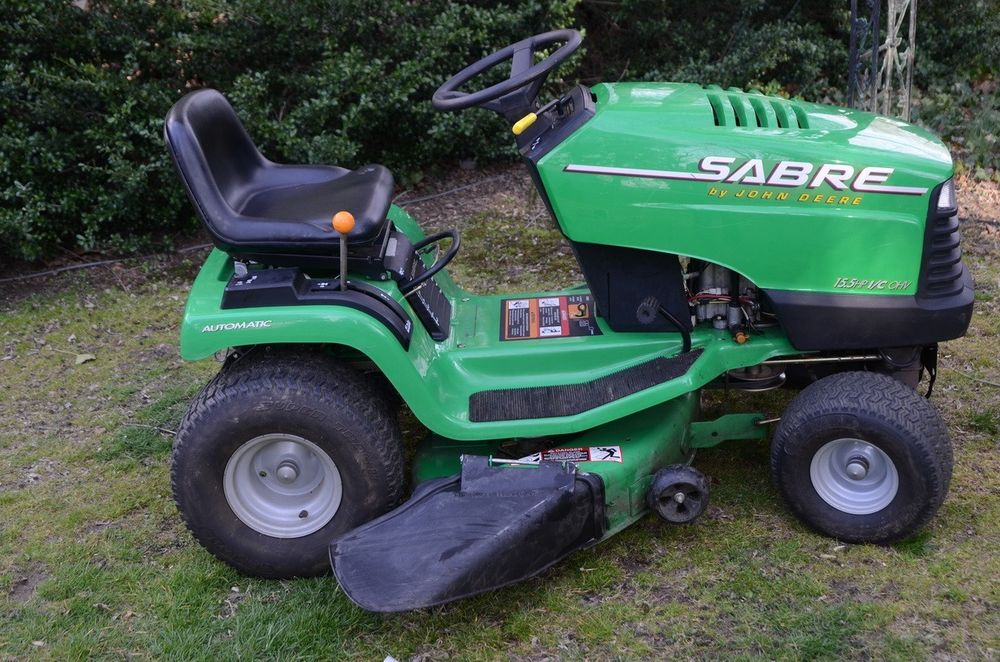 john deere lawn tractor Sabre 15.5 HP i/c OHV 15 5/38 HYDR ...