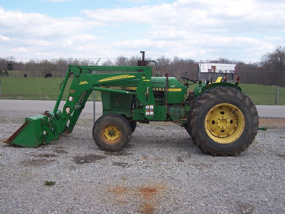 JOHN DEERE 2440 2WD TRACTOR WITH JD 542SL LOADER EXC COND ...
