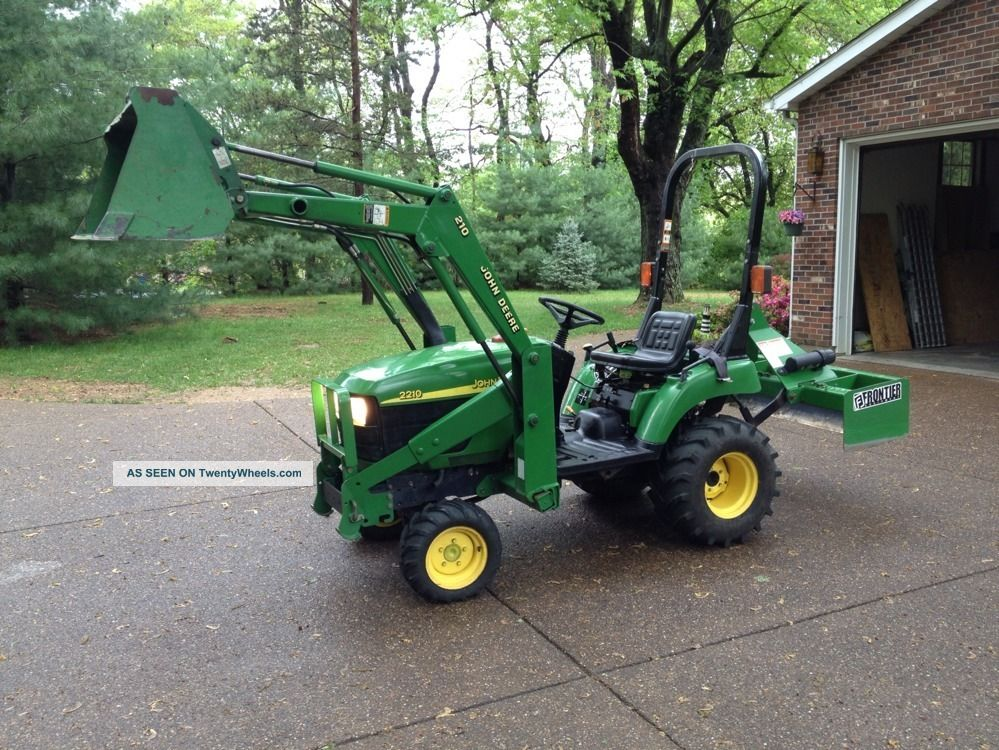 John Deere 2210, 4 X 4, Tractor, With Bucket And Box Blade ...