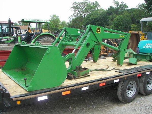 1328: John Deere 245 Loader with brackets for Tractors ...