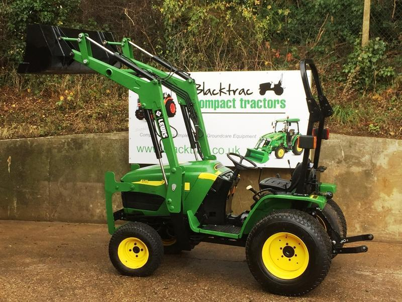 JOHN DEERE 4115 COMPACT TRACTOR WITH LEWIS 2520 LOADER ...