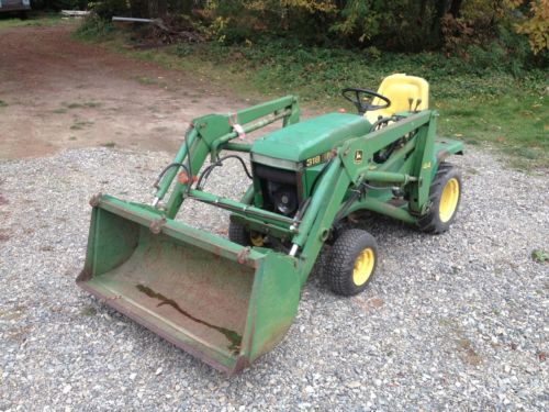 John Deere 318 Tractor with 44 Loader Attachment 301hrs | eBay