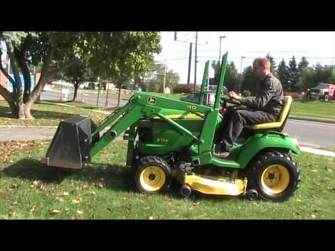 Test Drive John Deere X748 Tractor 40 Loader - YouTube