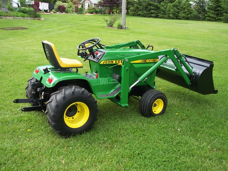 JD 400 with loader | John Deere lawn and garden ...