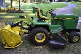 Equipment Movers John Deere 420 tractor and attachments to ...