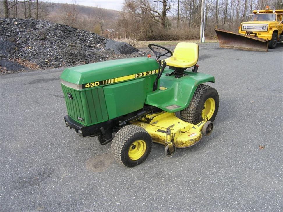 John Deere 430 Garden Tractor Attachments - Holding Site ...