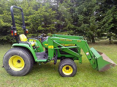 John Deere 4400 Compact Tractor C/w 430 Loader Bucket ...