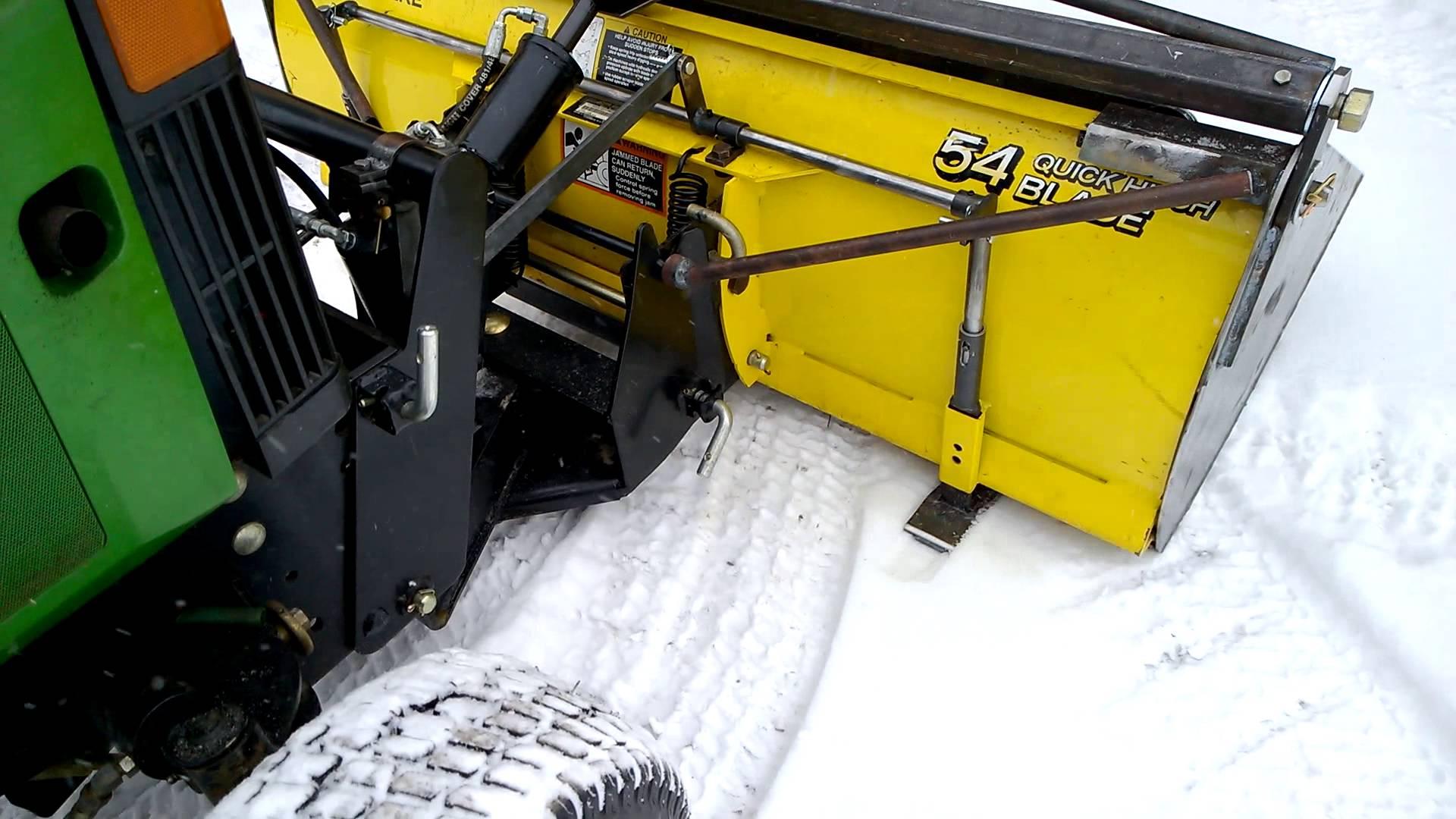 John Deere 54 Plow with bucket demonstrating lock - YouTube