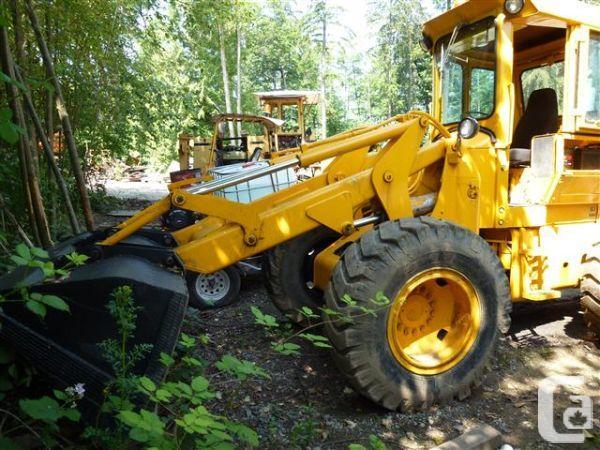 john deere 544 front end wheel loader w/ bucket and forks ...