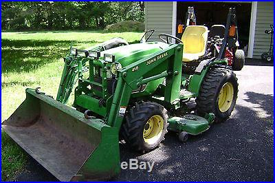 John Deere 4110 Compact Tractor with 61in. Bucket | Mowers ...