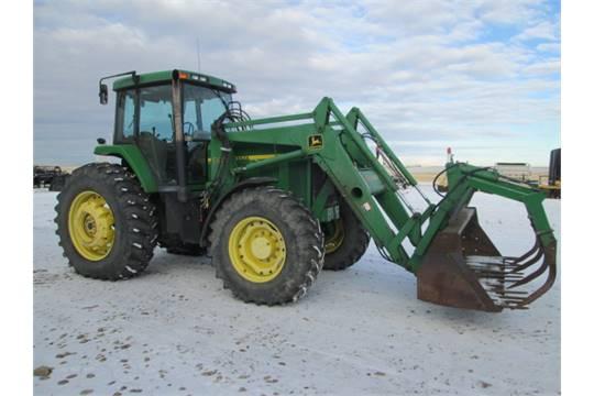 1997 John Deere 7810 MFWD w/ JD 740 loader, bucket ...
