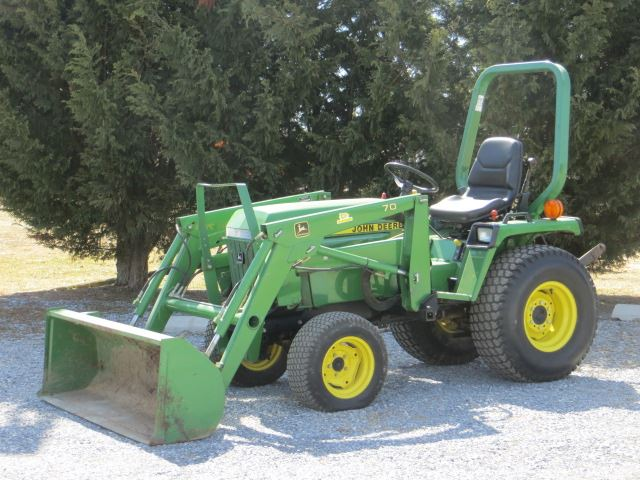 John Deere 755 4X4 Diesel Tractor w/70 Loader,