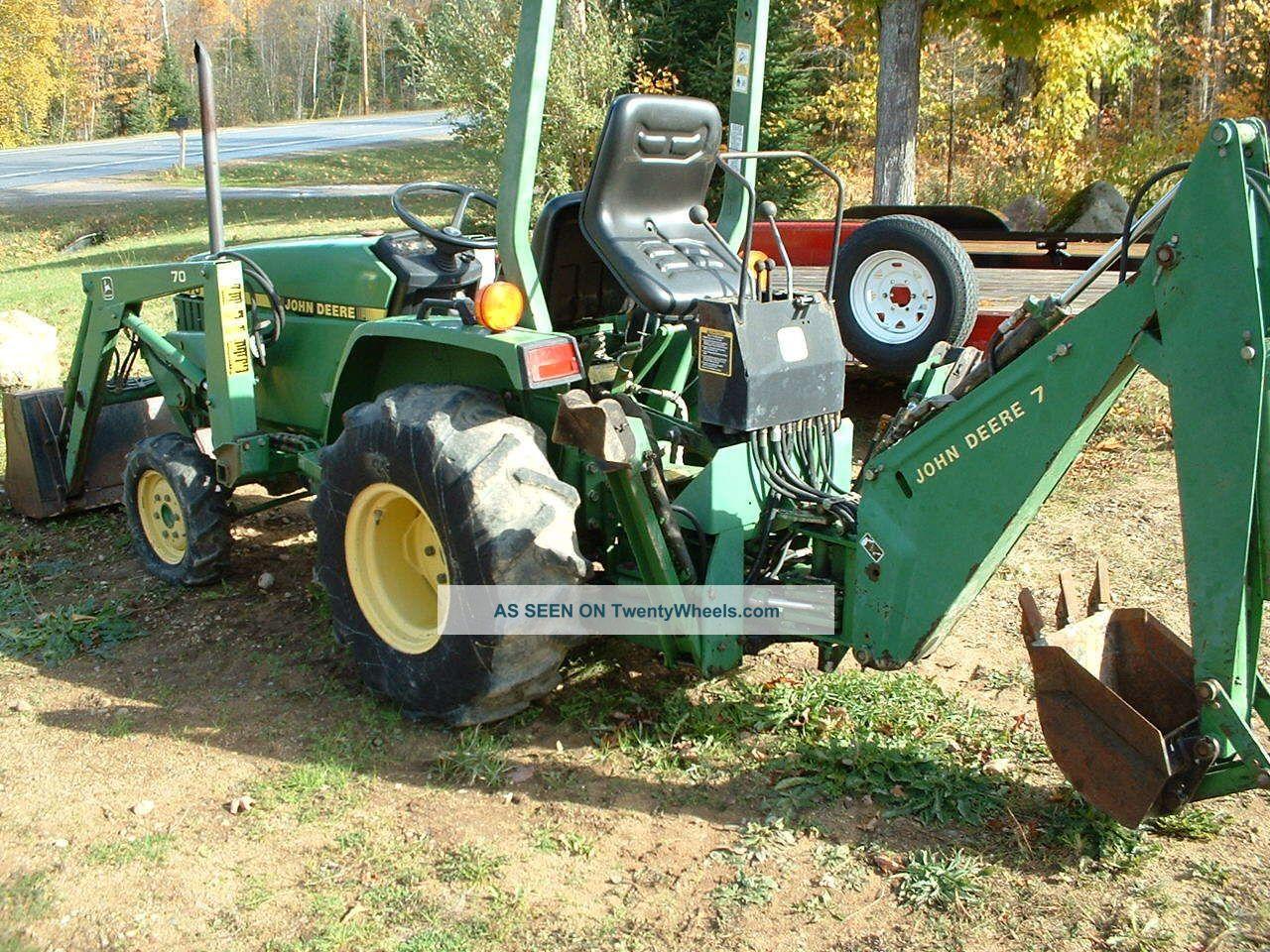 John Deere 770 4x4 Diesel Loader Backhoe Tlb