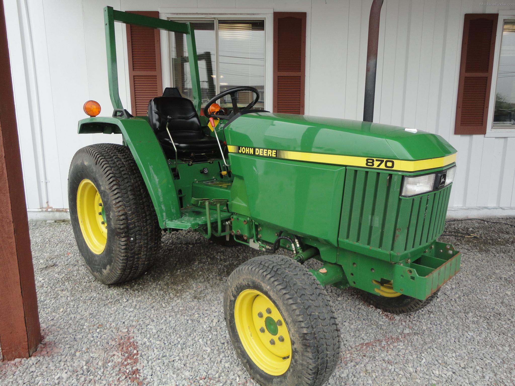 1995 John Deere 870 Tractors - Compact (1-40hp.) - John ...