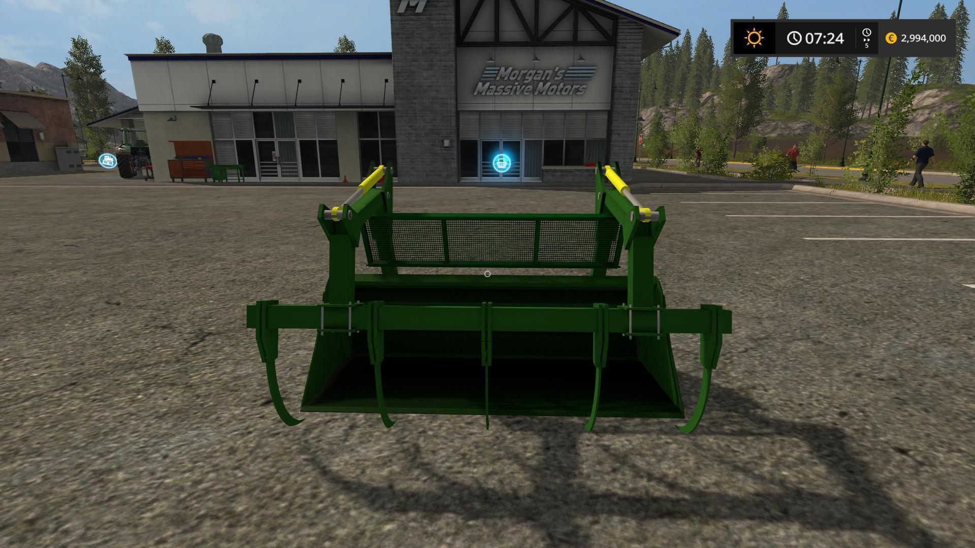 JOHN DEERE GRAPLE BUCKET V1.0 FS2017 - Farming Simulator ...