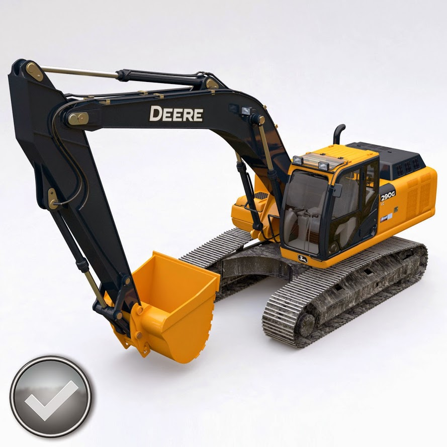 3D.ART.Reactor: 3D Model Excavator John Deere 290G