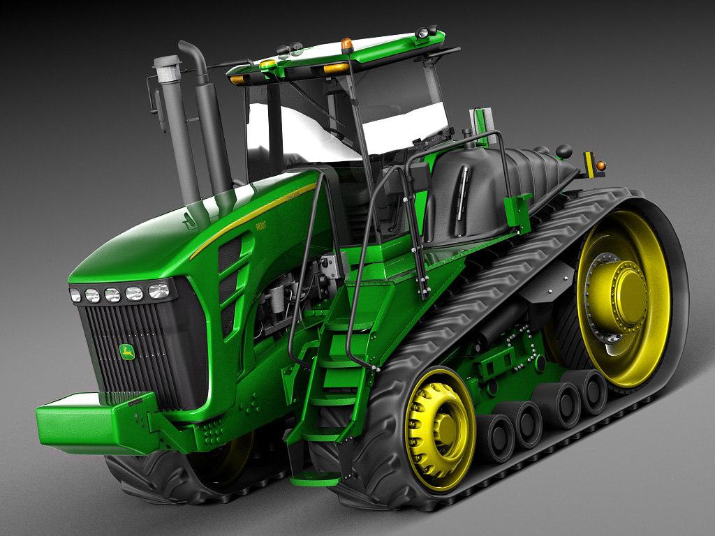 3d john deere tractor