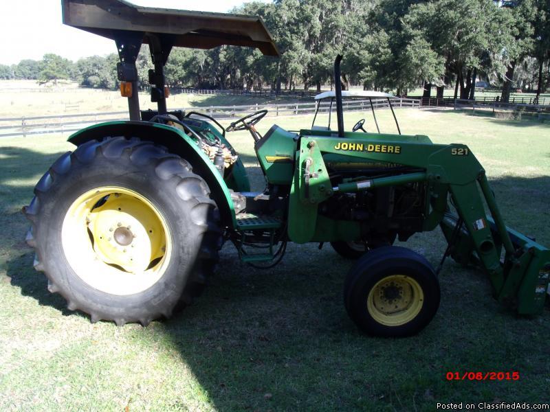 John Deere 5300- 521 Loader Tractor with Five Accessories ...