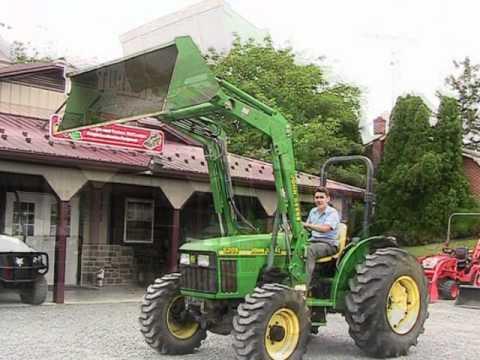 John Deere 5205 Tractor 521 Loader 4x4 53HP on EBay - YouTube