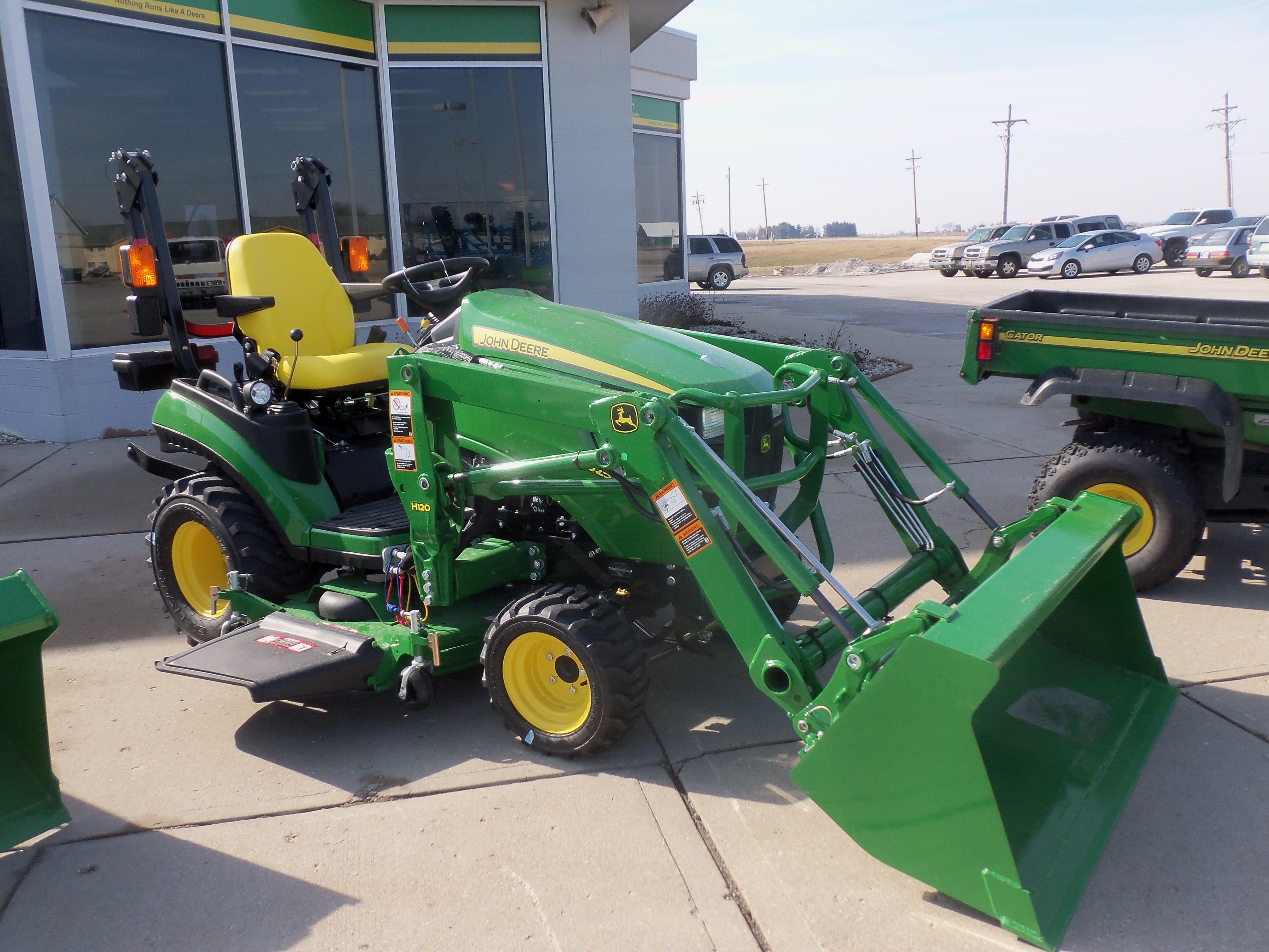 John Deere 1025R with H120 loader   John Deere equipment   Pinterest