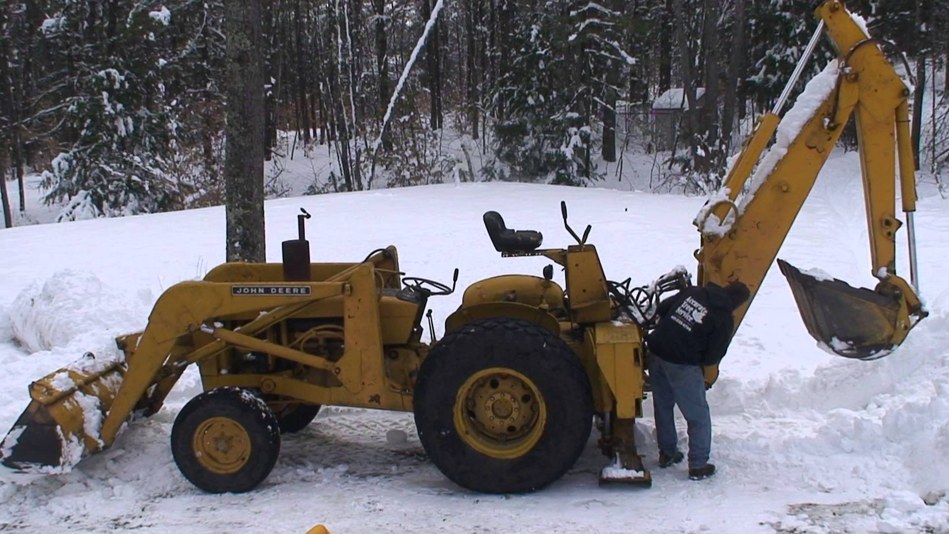 1970 John Deere JD400 Tractor Loader Backhoe - YouTube