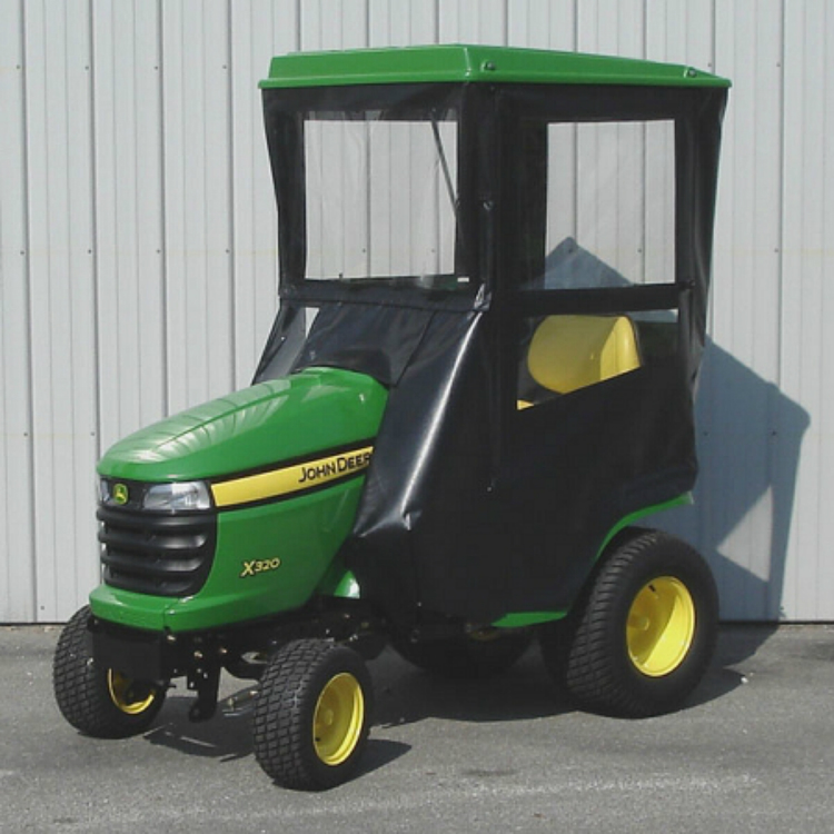 ... CAB WITH HINGED DOORS FOR JOHN DEERE X300 SERIES LAWN TRACTORS