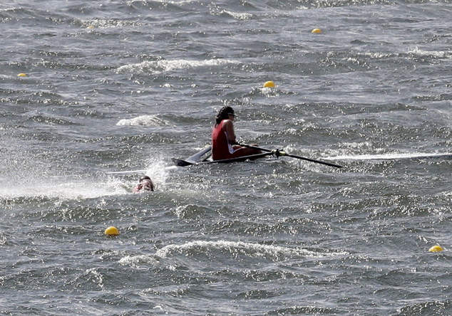 Olympic rowing called off because of strong wind on lagoon ...