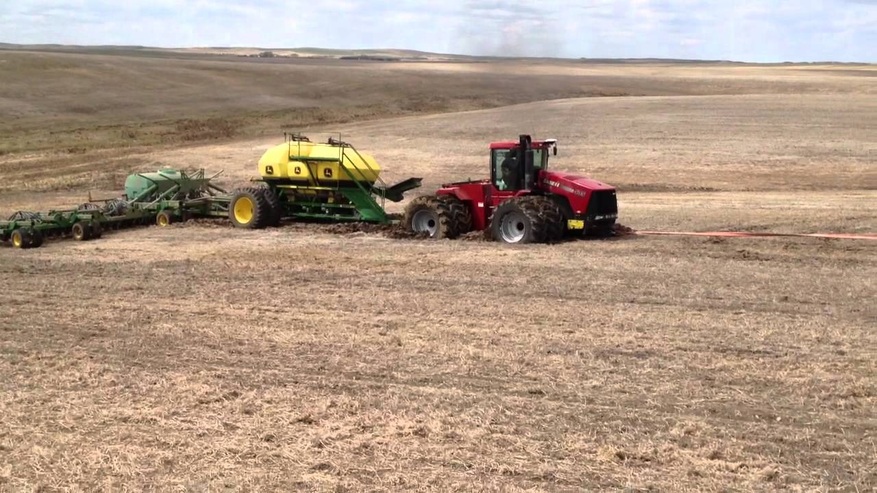 Case IH 535 Stuck With Air Seeder - YouTube