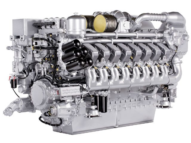 Marine diesel engine MTU 4000 series, good things come ...