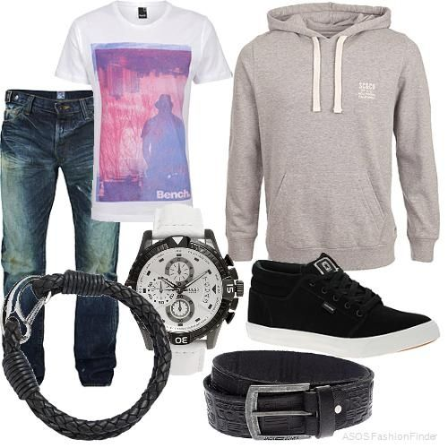 teen boys outfit, casual cool style, full fashion ensemble ...
