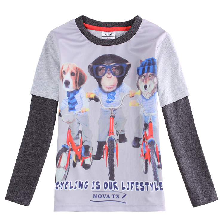 gray-Clothing-for-boys-clothes-3d-monkey-t-shirt-kids-wear ...