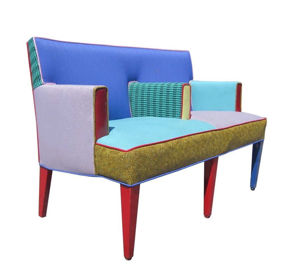 Ettore Sottsass Settee for Memphis Furniture, Circa 1960s ...