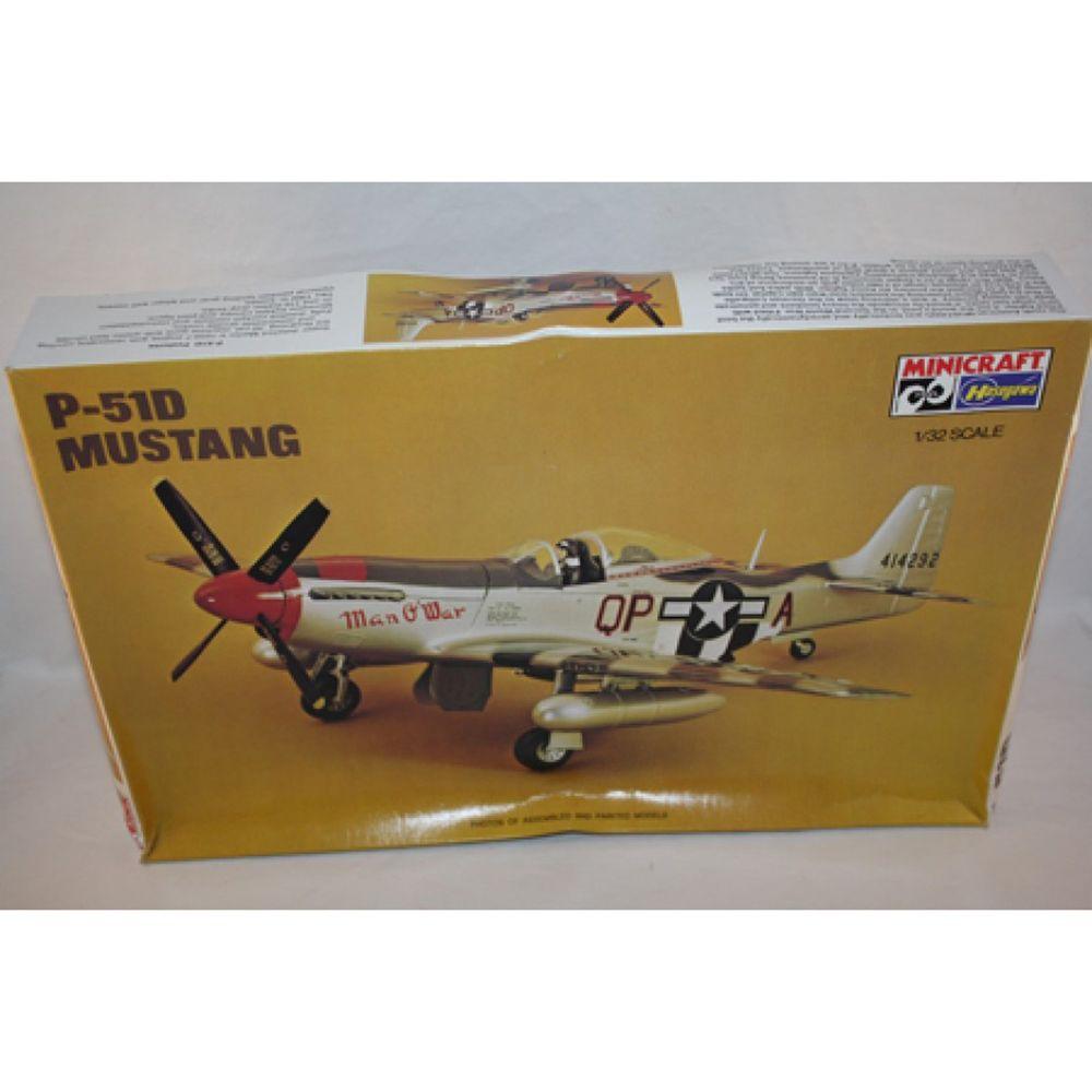 MINICRAFT HASEGAWA P-51D MUSTANG PLASTIC MODEL KIT 1/32 ...