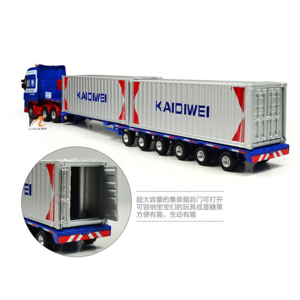 KDW 1/64 Scale Diecast Low Bed Transporter Truck Vehicle ...