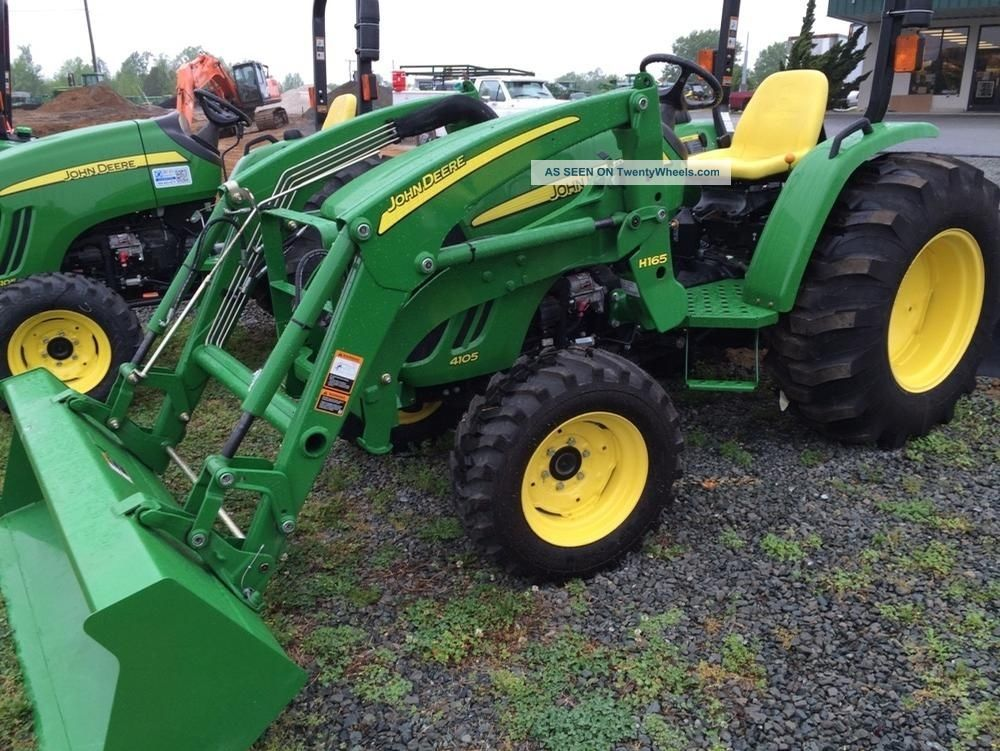 John Deere 4105 Compact Utility Tractor With H165 Loader Tractors ...