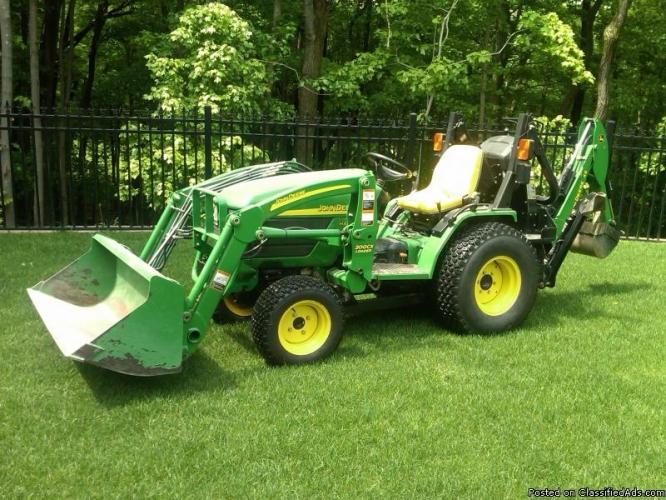 John Deere 4110 HST 4WD tractor w Backhoe - Price: 15,900 Firm in ...
